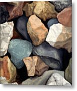 Common Stone Metal Print