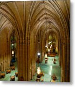 Commons Room Cathedral Of Learning - University Of Pittsburgh Metal Print by Amy Cicconi