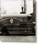 Commonwealth Of Pennsylvania  Coal Mine Rescue Truck 1947 Metal Print