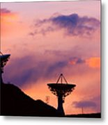 Communication Sunset Metal Print