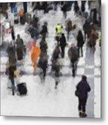 Commuter Art Abstract Metal Print