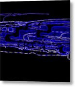 Compartmental Blues Metal Print