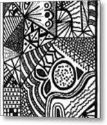 Complex Perception Metal Print