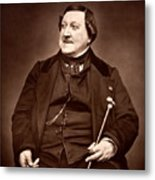 Composer Rossini Metal Print