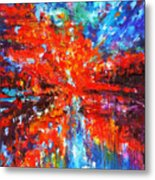 Composition # 2. Series Abstract Sunsets Metal Print