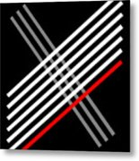 Composition Cris Cross Metal Print
