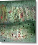 Composition In Green Metal Print