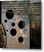 Composition With Holes And Spikes Metal Print