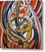Composition With Red Metal Print