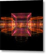 Computer Generated 3d Abstract Fractal Flame Modern Art Metal Print