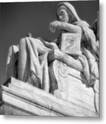 Comtemplation Of Justice 1 Bw Metal Print