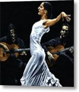 Concentracion Del Funcionamiento Del Flamenco Metal Print