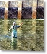Concentration Metal Print