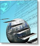 Conceptual Music World  Metal Print