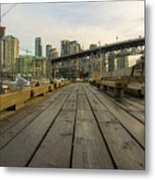 Condominium Buildings Along Granville Island Vancouver Bc Metal Print