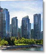 Condominium Waterfront Living In Vancouver Bc Metal Print