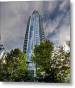Condominiums Along Waterfront In Vancouver Bc Metal Print