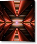 Cone Red Convergence Metal Print
