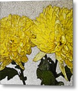 Conversations In The Flower Garden Metal Print