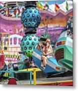 Coney Island Amusement Ride Metal Print