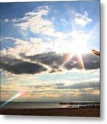 Coney Island Flare Metal Print