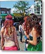 Coney Island Girls Metal Print