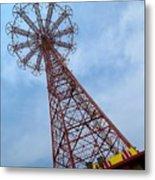 Coney Island Parachute Jump 03 Metal Print
