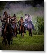 Confederate Cavalry Charge Metal Print