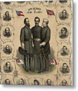 Confederate Generals Of The Civil War Metal Print