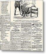 Confederate Newspaper Metal Print