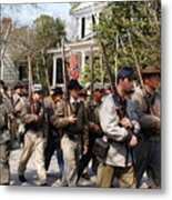 Confederate Soldiers Marching Metal Print