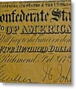 Confederate States Metal Print