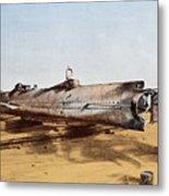 Confederate Submarine, Hunley Metal Print