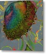 Confetti Flower Metal Print