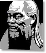 Confucius - Portrait By Asbjorn Lonvig Metal Print