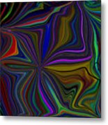 Conglomerate Of The Color Wheel Metal Print