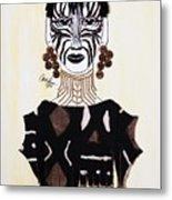 Congo Lady Metal Print