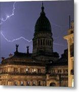 Congreso Lightning Metal Print
