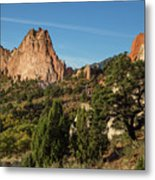 Coniferous Trees In The Garden Of The Gods Metal Print