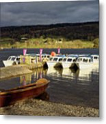 Coniston Water Boats Metal Print