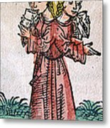 Conjoined Twins, Nuremberg Chronicle Metal Print