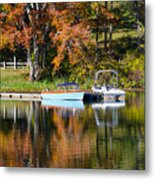 Connect Lake In The Fall Metal Print