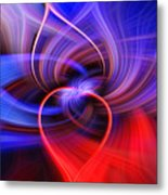 Connected Hearts Metal Print
