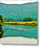 Connecticut River Between New Hampshire And Vermont Metal Print