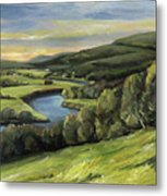 Connecticut River Valley View Two Metal Print