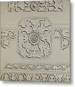 Connecticut-type Hadley Chest-detail Of Central Panel Metal Print