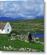 Connemara, Co Galway, Ireland Cottages Metal Print