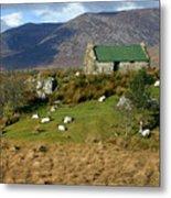 Connemara Cottage Ireland Metal Print
