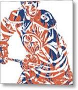 Connor Mcdavid Edmonton Oilers Pixel Art 3 Metal Print
