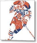 Connor Mcdavid Edmonton Oilers Pixel Art 6 Metal Print